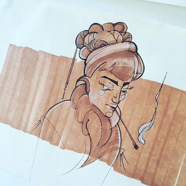 So sorry for the cold shoulder. I'm almost back.   __________________________________  #sketch #illustration  #drawing
