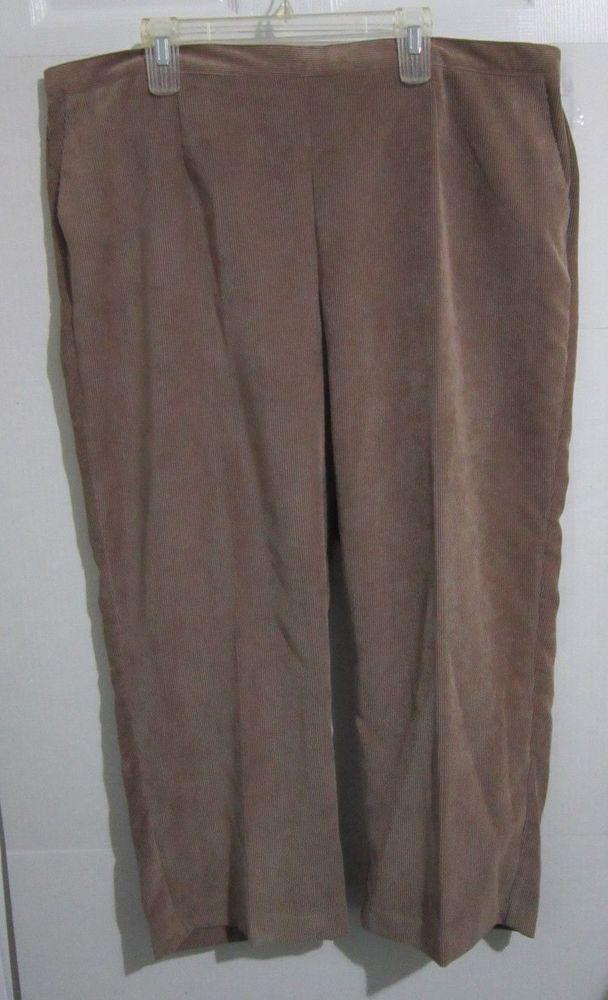 b1dbd66562e Alfred Dunner Elastic Waist Corduroy Pants Womens Plus Size 24W Short Beige  Nwt  AlfredDunner  Corduroys