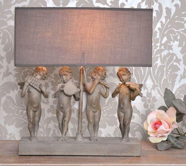 Lampa z aniołkami / angelic quartet standing lamp