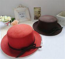 New 2015 Fedoras Hats for Women Wool Bowler Bowknot Bucket Cloche Flat Church Top Hat Chapeu Feminino Free Shipping(China (Mainland))