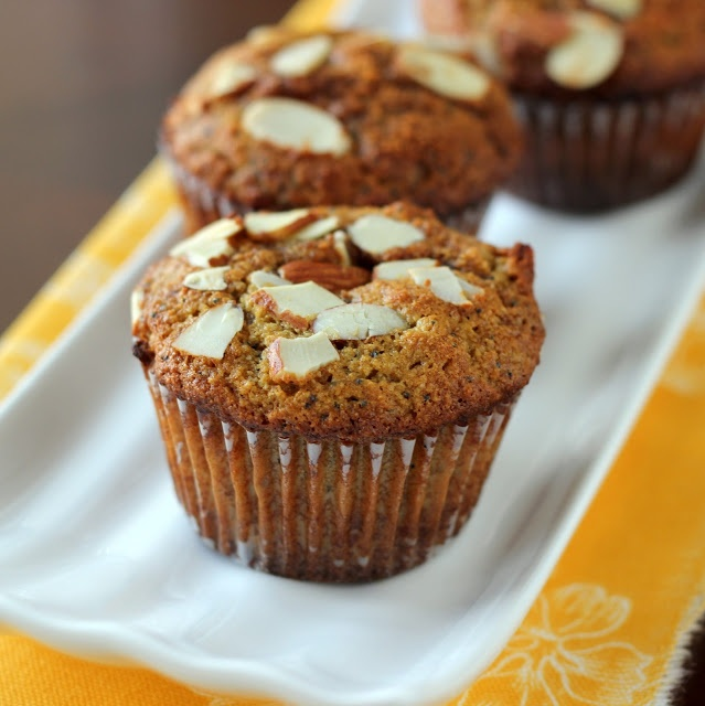 Meaningful Eats: Almond Poppy Seed Muffins {Grain-Free, Dairy-Free}