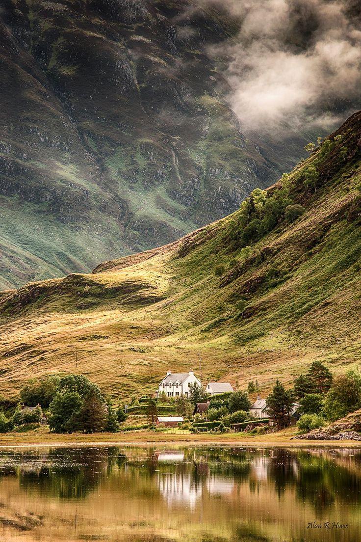 A view from the bridge clachan duich Scotland Beinn Fhada