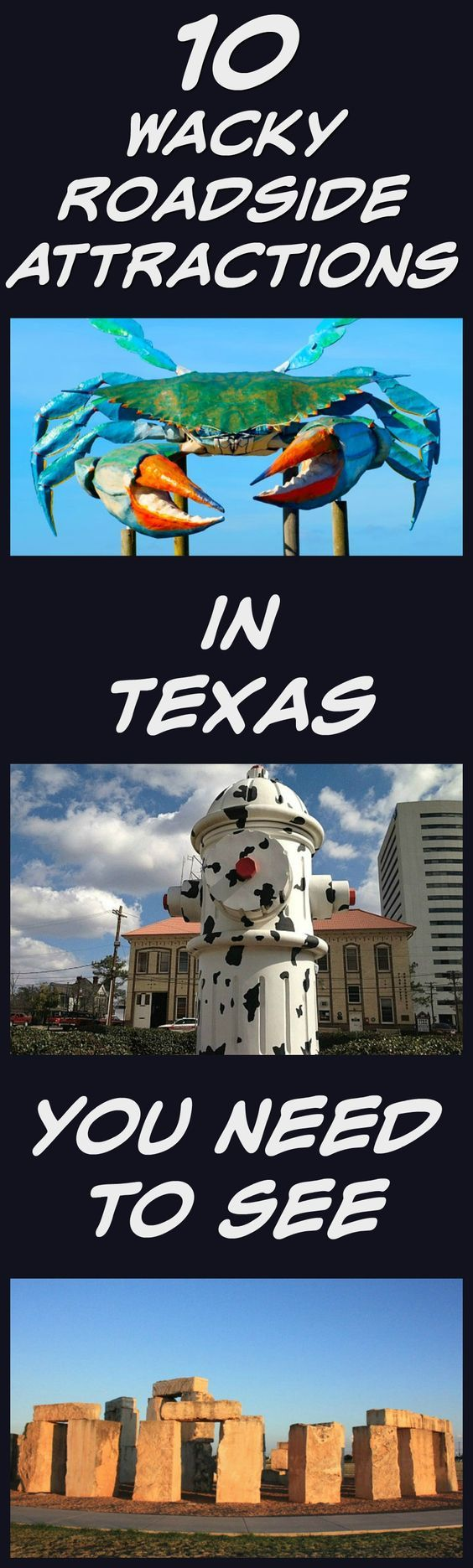 The Lone Star State is full of the unusual and the odd, best shown off by the many wacky roadside attractions in Texas. This list will get you started on your path to the weird side of Texas.