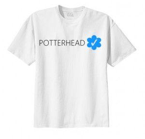 T-shirt koszulka POTTERHEAD VERIFIED HARRY potter hogwart print napis nadruk moda damska męska unisex fashin fandoms dla fana