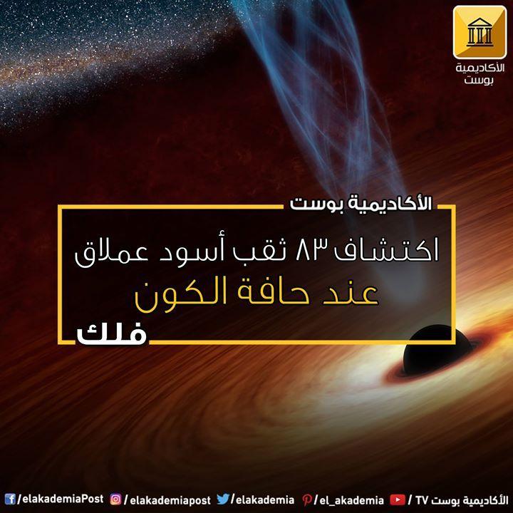 اكتشاف 83 ثقب أسود عملاق عند حافة الكون اكتشف فريق بحثي دولي