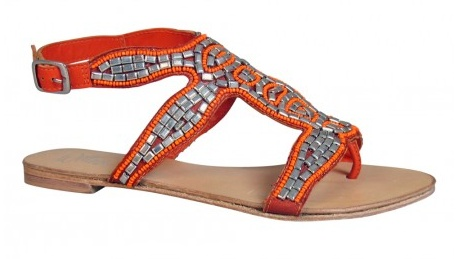 Gladiator sandals were a staple of last year's summer wardrobe. This month, the footwear trend moves on with an African-inspired twist. Sandals featuring raffia detail, animal or mixed prints in desert-hues, will be a sound investment to bring last year's summer staples up-to-date. Check out Wittner's Chillie sandal for inspiration. #summer #flats $89.95