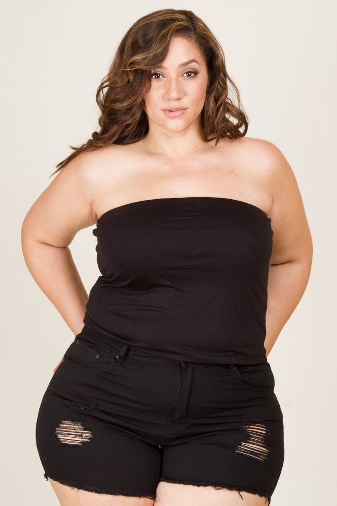 6f2bcc7027 Plus Size Solid Jersey Tube Top