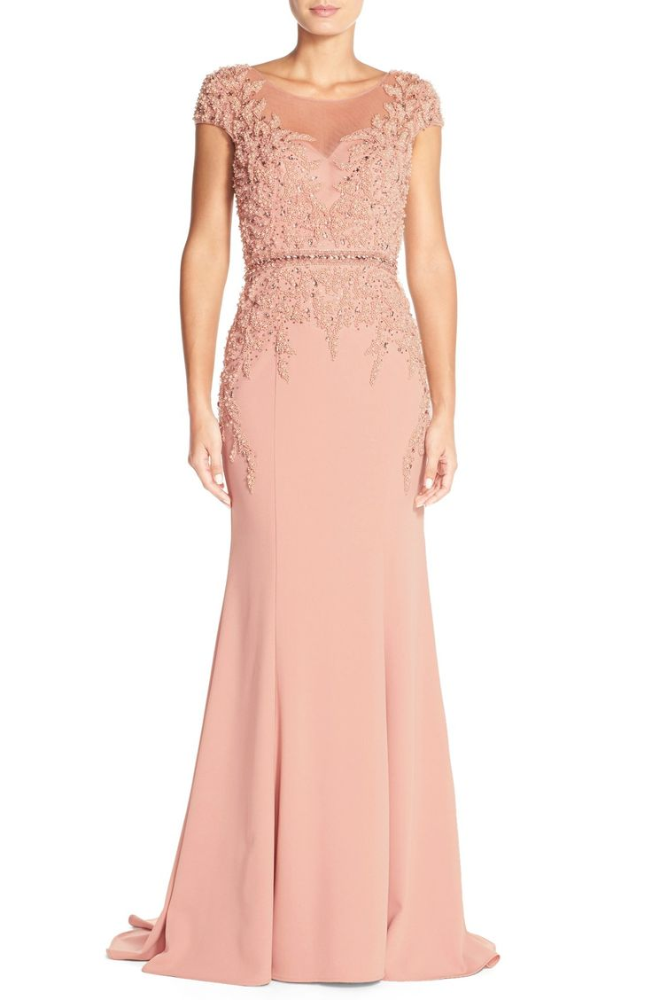 Terani Couture Embellished Crepe Mermaid Gown | Nordstrom
