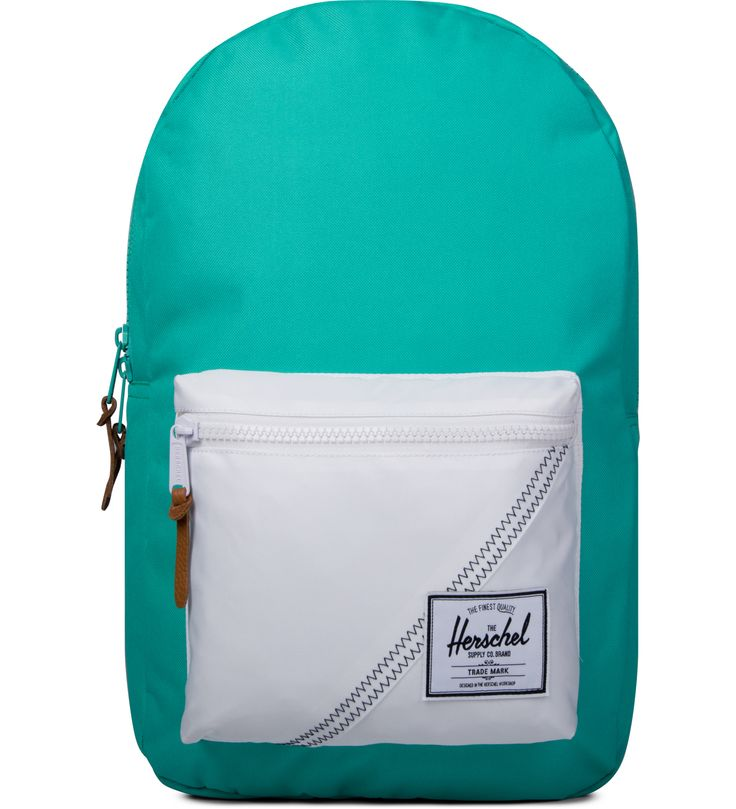 Herschel Supply Co. Mark Teal/White/Racing Red Settlement Backpack | HYPEBEAST Store.
