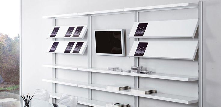 Libreria design in metallo Big di Caimi, designer Marc Sadler