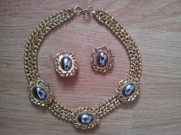 #Womens 1980's necklace and earrings #costume #jewellery,  View more on the LINK: http://www.zeppy.io/product/gb/2/391622497230/
