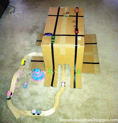 Tutus & Tea Parties: DIY Box Play for Cars, Trains...