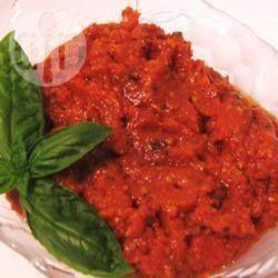 Photo recette : Sauce maison aux tomates et au basilic