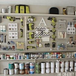 Awesome garage organization. This is PERFECT for our new house!