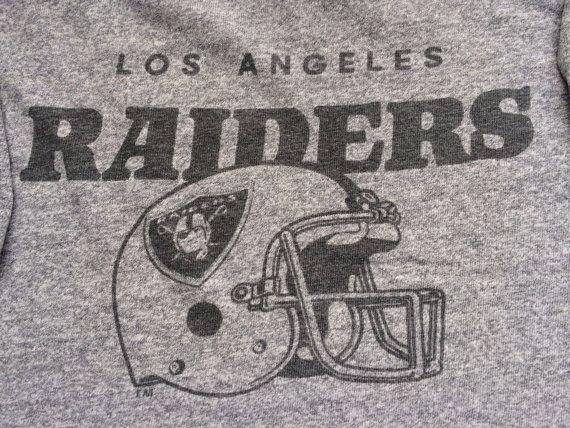 Vintage LOS ANGELES RAIDERS 1980s Jersey T by sweetVTGtshirt, $85.00