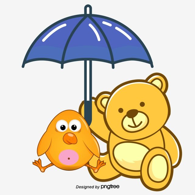 Bear Under Umbrella, Umbrella Clipart, Umbrella, Bear PNG Transparent Clipart Image and PSD File for Free Download in 2020 | Clip art, Colorful umbrellas, Paint background
