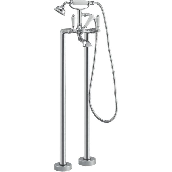 Park Lane Winchester Floor Standing Traditional Bath Shower Mixer