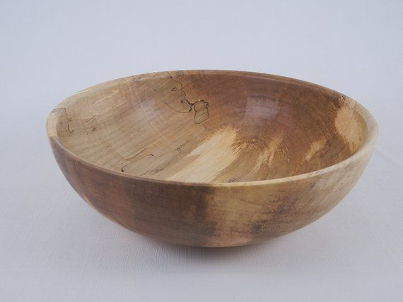 Large Wooden Bowl Large Wooden Salad Bowl Spalted Maple Bowl