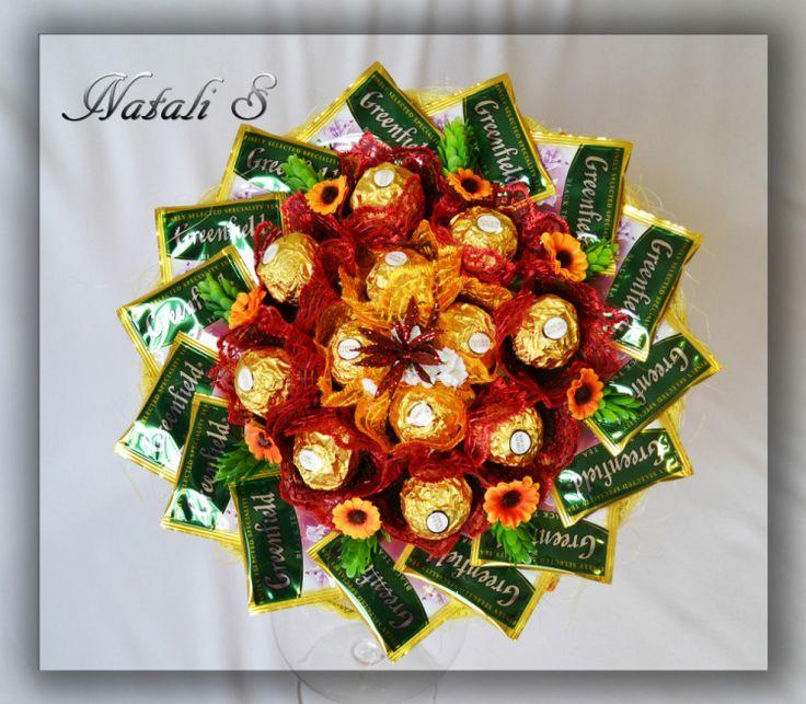 Gallery.ru / Фото #54 - Ручные букеты из конфет - Natka-S