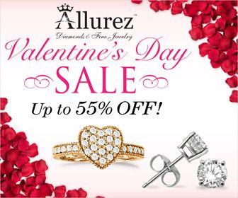 Valentine's Day Sale at Allurez   http://www.planetgoldilocks.com/valentines_day.htm #valentinesday  #valentinesdayJewelry  #valentinesdaycoupons  #fashions #jewelry  #Allurez