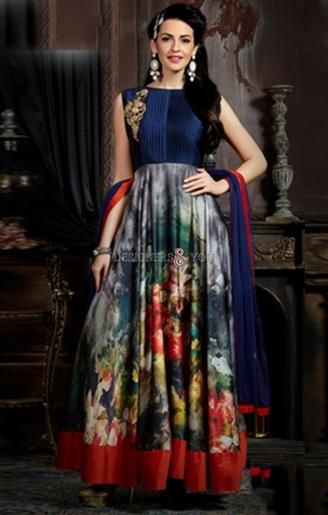 Party Gown Designed With Different Styles Patterns For Modern Ladies Visit:   http://www.designersandyou.com/dresses/gown-dress #Inspiring #Colorful #Embroidery #Fashion Gram #Fashion Blogger #FashionOfGown #Stylish #Stylish Gowns #Awesome #DesignerGowns #Printed