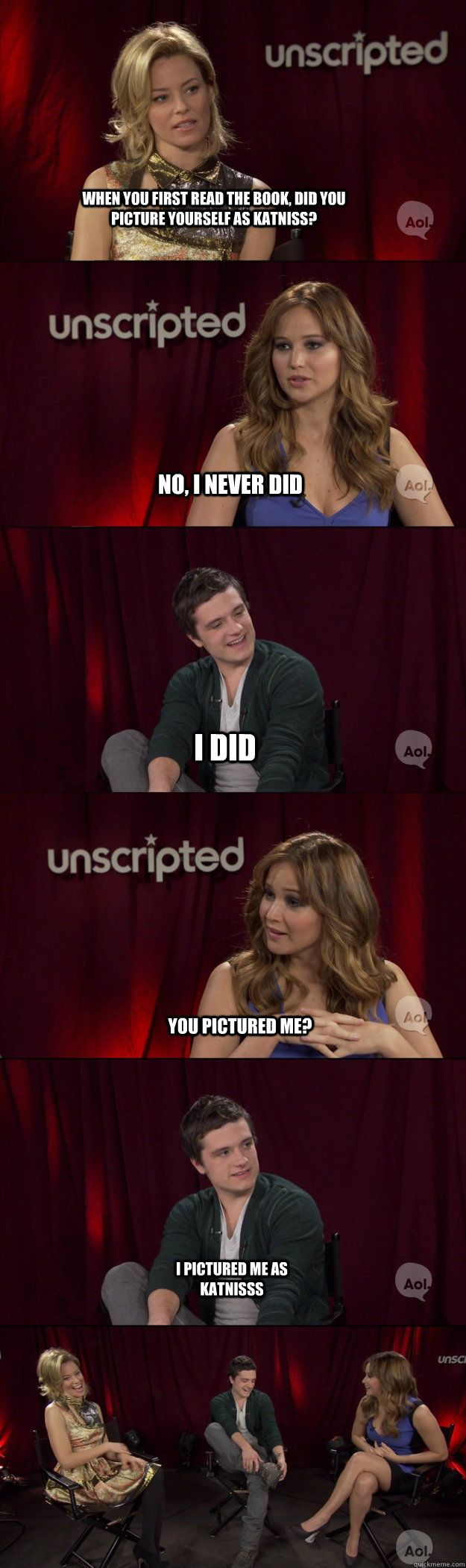 haha!Josh Hutcherson, The Hunger Games, Funny Guys, Joshhutcherson, Funny Hunger Games, Hunger Games Humor, So Funny, Hunger Games Cast, Jennifer Lawrence
