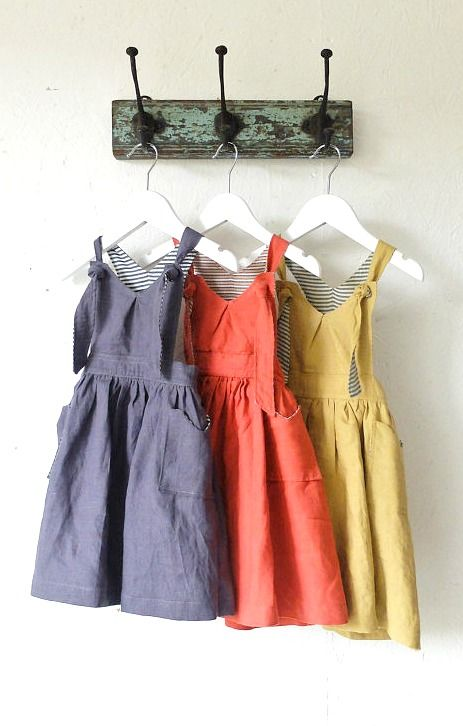 Handmade Linen Pinafore Dresses by YouAreSmall on Etsy