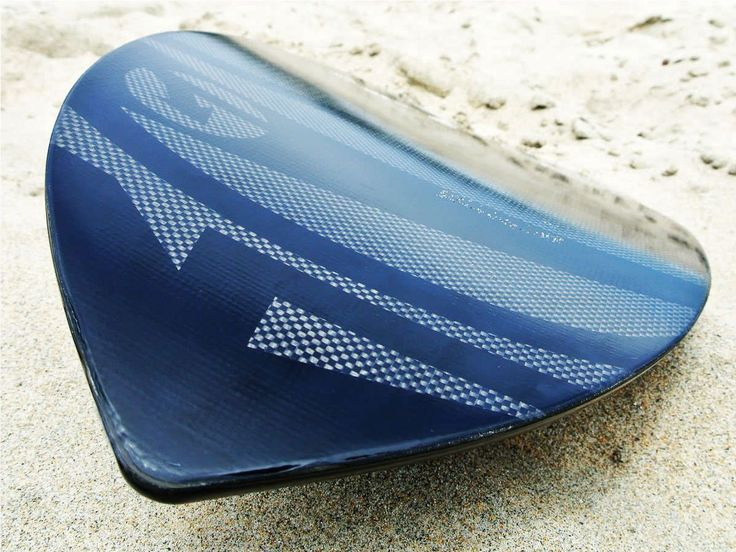 Carbon Black Wedge Handboard For Bodysurfing With Gopro Attachment
