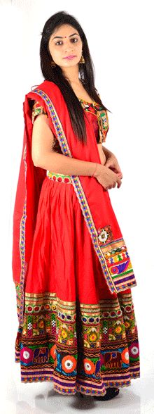 #ChaniyaCholi #lehngacholi #styleincraft #navratri #navratri2015 Beautifully crafted for girls and women's dazzling embellishments is a perfect traditional dress to your girls and wardrobe.Dress her with a classy style statement for festivals with this ethnic set that will make you look Beautiful.Cotton traditional gujarati lacha/chaniya choli in multi color. The