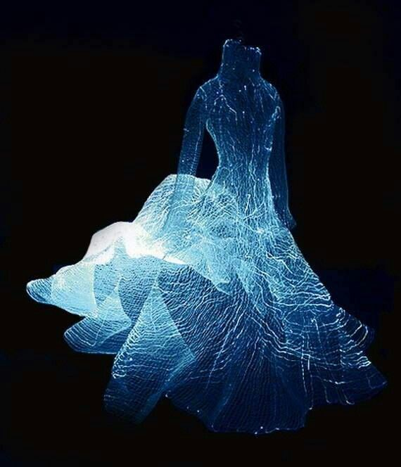 LED and fibre optic dress.