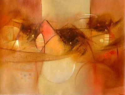 Peruvian Abstract Cubist Painting - Tucuy Ricuy, Royal Messengers | NOVICA