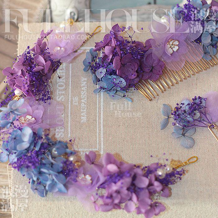 Япония импортирует бессмертным цветочные аксессуары для волос свадебный головной убор подходит расчесывать волосы аксессуары булавки обеды студии свадебных аксессуаров - Taobao