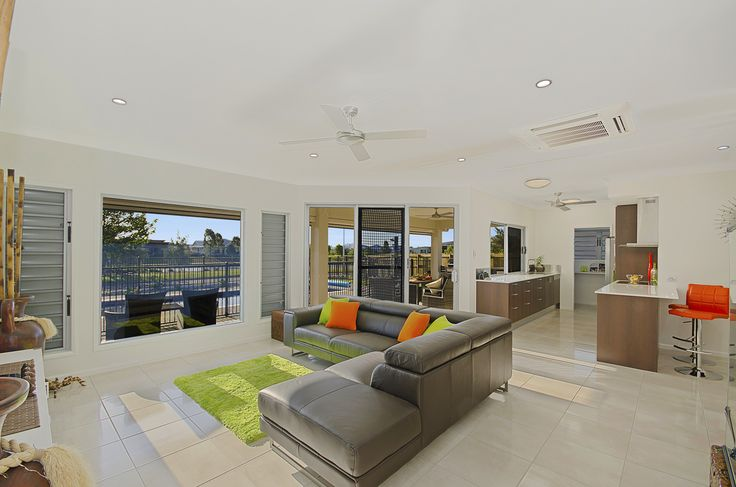 Lounge www.martinlockehomes.com.au New Home. Townsville. Window. Builder