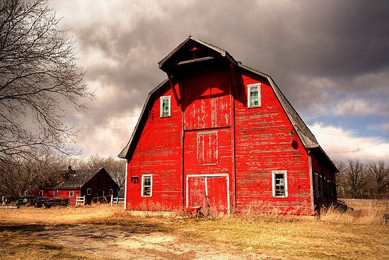 Ye Old Red Barn by Larry Trupp: Stony Mountain, Canada, Amazing Barns, Barns Reds, Barns Gates, Big Red, Red Barns, Red Barn West