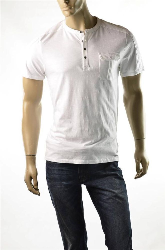 Dkny jeans by donna karan mens shirt mens 4 button henley for Mens collared henley shirt