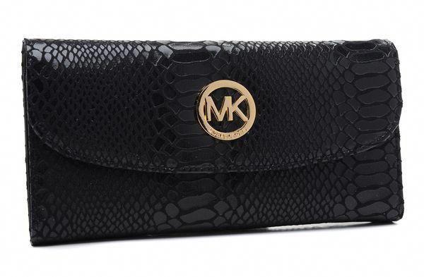 5e7dd5617ab8f Michael Kors Black Patent Python-Embossed Leather Wallet   Handbagsmichaelkors  michaelkorspythonhandbag