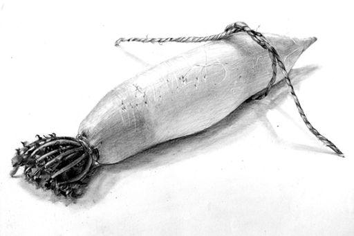 「鉛筆デッサン・大根」記事の画像