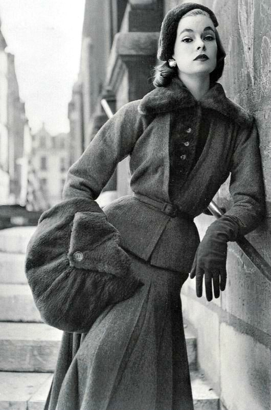 Model in Jacques Fath for Vogue France, Sept. 1952