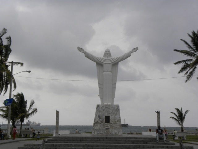 Statue of Jesus in Colon, Panama Contact Panama Roadrunner for a tour to Colon and Portobelo www.panamaroadrunner.com