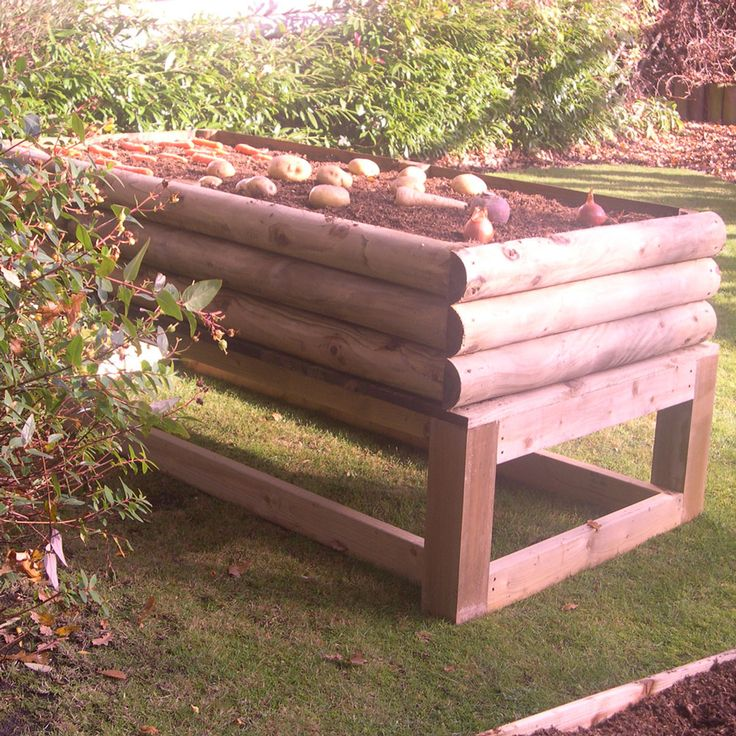17 best images about raised vegetable beds on pinterest for Raised beds designs for vegetable garden