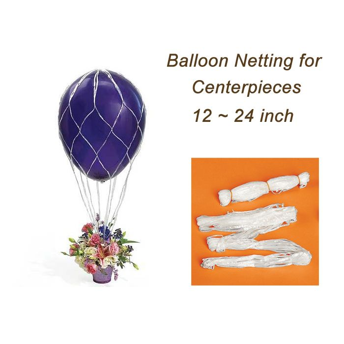 Balloon netting for centerpieces fit inch helium