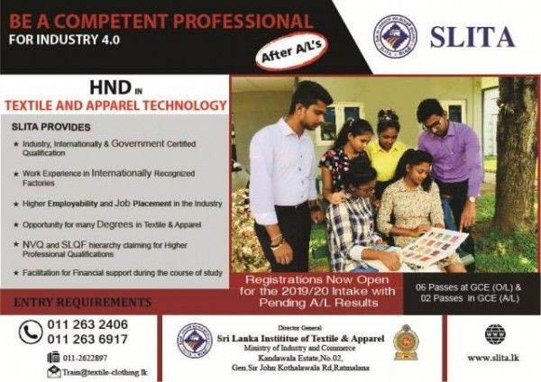 Sri Lanka Institute Of Textile And Apparel Slita Management Skills Job Placement Education