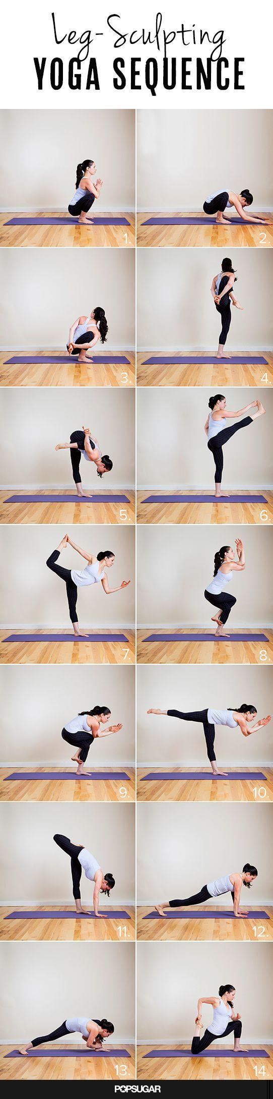Leg Sculpting Yoga Sequence, hold God 5 breaths