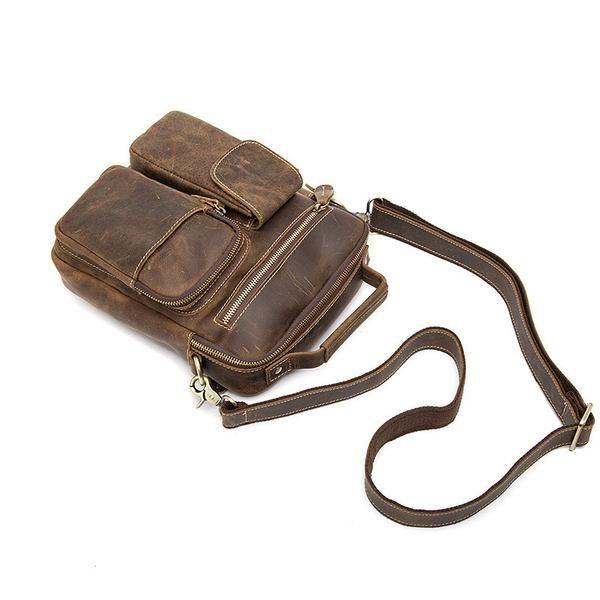 NEW ARRIVAL Men's Shoulder Bag, Crazy Horse Leather Messenger Bag, Crossbody Bags 3552