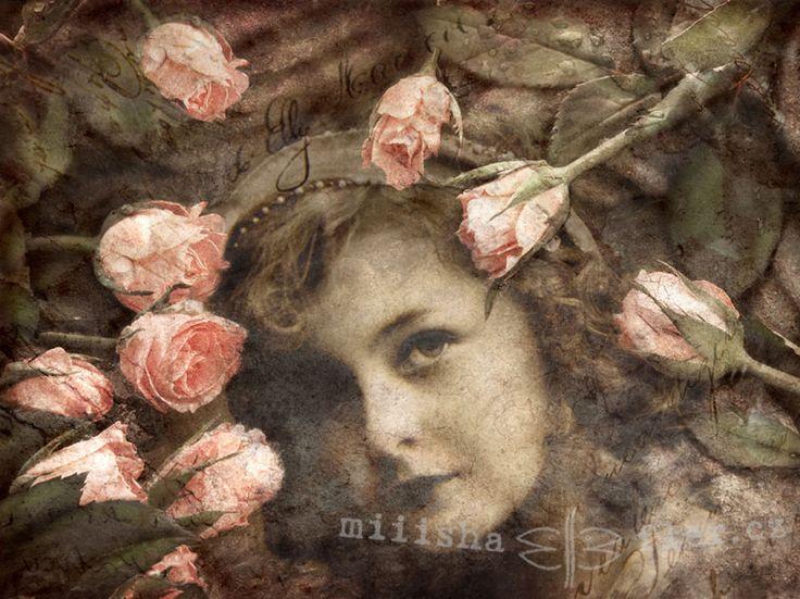 Dívka a růže Autorská fotomontáž ve vintage stylu jako přání do obálky. Možno použít jako originální valentýnské přáníčko anebo blahopřání ke Dni matek. K dodání ve velikosti A6 s obálkou, bez vodoznaku. Velikost A5 .... 55,- Kč Na přání i jiné provedení. K dispozici také jako obrázek v rámečku.