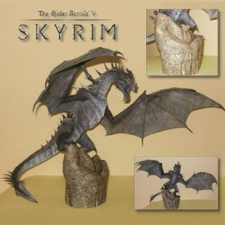 Tektonten Papercraft - Free Papercraft, Paper Models and Paper Toys: Skyrim Papercraft: Frost Dragon