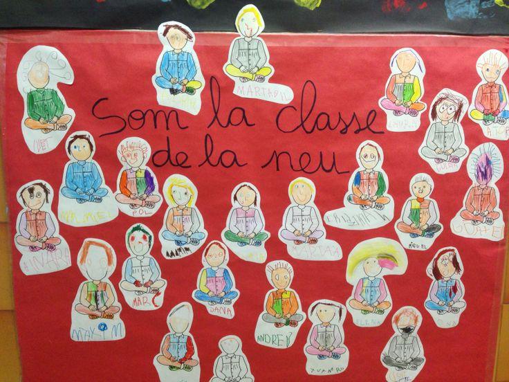 Mural fet pels nens i nenes de la classe de la neu de l'escola Vedruna Immaculada