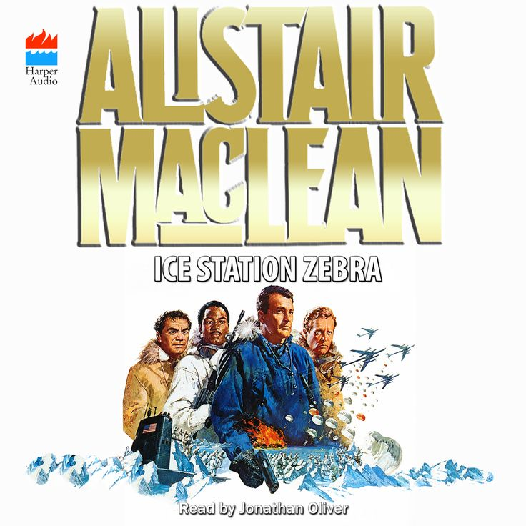 """Audible is in the process of releasing Alistair MacLean titles. I'm not crazy about the current style of MacLean covers so I (Darren Harrison) created my own. Here is the one for """"Ice Station Zebra"""""""