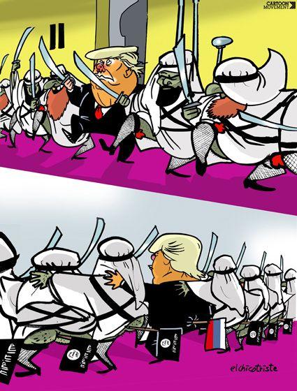 Trump in Saudi Arabia. Today's cartoon by Elchicotriste: https://www.cartoonmovement.com/cartoon/39828