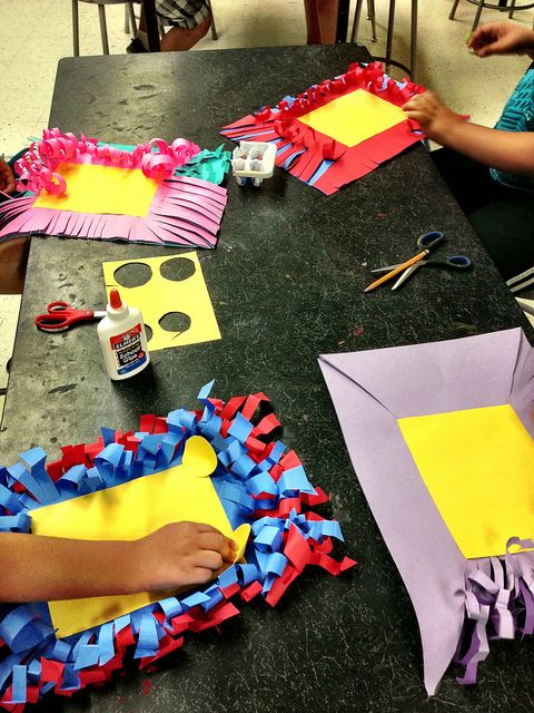 2nd Grade: Paper Manipulating to make frames great for back to school.